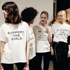 Girlpower! Habt ihr unsere Shirts auf der #BFW entdeckt? @dorotheeschumacher und die GLAMOUR Redaktion haben Bock auf starke Frauen! Alle Infos zu den Shirts findet ihr im LINK IN DER BIO. #feminist #girlpower #supportthegirls #glamourgermany  via GLAMOUR GERMANY MAGAZINE OFFICIAL INSTAGRAM - Celebrity  Fashion  Haute Couture  Advertising  Culture  Beauty  Editorial Photography  Magazine Covers  Supermodels  Runway Models