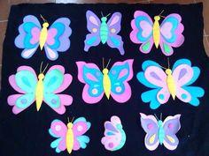 Letras en foami decoradas con mariposas - Imagui