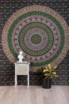 Floral Medallion Tapestry - Urban Outfitters  Instead of a head board (y)