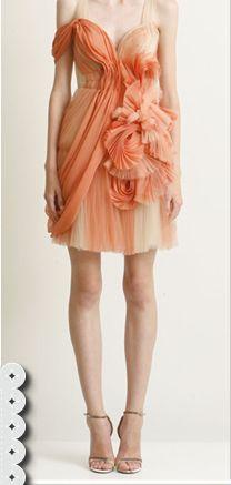Peach party dress...gorgeous.