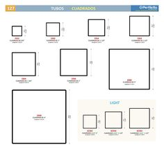 Tubos Cuadrados Perfiletto ®| Catálogo Virtual Perfiletto