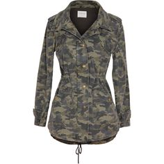 Velvet by Graham and Spencer Darla Camo Army Jacket (15.725 RUB) ❤ liked on Polyvore featuring outerwear, jackets, green, military camo jacket, green jacket, camo jacket, green utility jacket and green velvet jacket