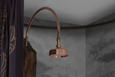 Small trombone copper or nickel showerhead Copper Shower Head, Wall Lights, Ceiling Lights, Trombone, Shower Heads, Trumpet, Decorative Bells, Track Lighting, Flat