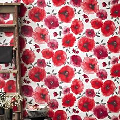 Poppies Red Wallpaper by Graham and Brown
