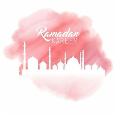 Ramadan background with a watercolor effect