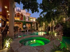 Photograph via Joel Schemmel @ Sotheby's International Realty   Situated on an acre of property at the coveted north end of Siesta Key (directly on the Gulf of Mexico), this opulent Med...