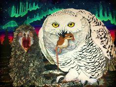 Kay LeFevre rug Snowy Owl Canada National Bird series.
