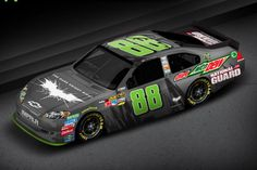 'Dark Knight Rises' NASCAR racing car. Better than the Batmobile? (photo courtesy of Mountain Dew/NASCAR)