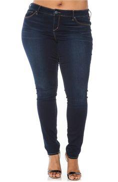 1a563021d1b SLINK Jeans  The Skinny  Stretch Denim Jeans (Amber) (Plus Size)