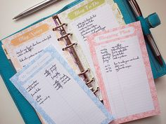 blog organizer printables