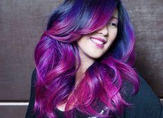 Black & Purple Ombre Hair Color http://www.jexshop.com/
