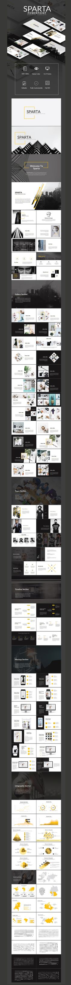 Sparta Powerpoint Multipurpose Presentation Template