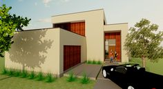 Stults Project - Front Elevation -  Greico Modern Homes - Dallas