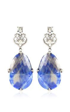 Sapphire And Diamond Earrings by Bochic for Preorder on Moda Operandi