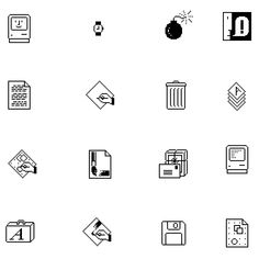 Susan Kare: She was the world's first digital pixel artist. For the Macintosh, she designed icons — the trash can, the Happy Mac, the icons of MacPaint.