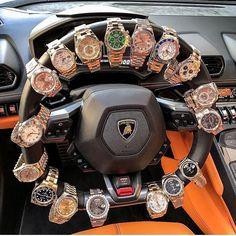 Rolex Steering wheel 🔥 lamborghini rolex me Men's Watches, Luxury Watches, Cool Watches, Watches For Men, Wrist Watches, Fashion Watches, Rich Lifestyle, Luxury Lifestyle, Lifestyle Fashion
