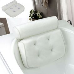 Advertisement - Mesh Neck Back Premium Luxury Comfortable Bath Spa Pillow Cus. Advertisement - Mesh Neck Back Premium Luxury Comfortable Bath Spa Pillow Cushion Bathtub Pillow, Bathtub Tray, Jacuzzi, Entspannendes Bad, Orthopedic Pillow, 3d Mesh, Relaxing Bath, Cushions, Pillows