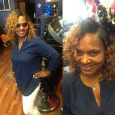 She likes colored hair. Styled by Marcella/Nikki.