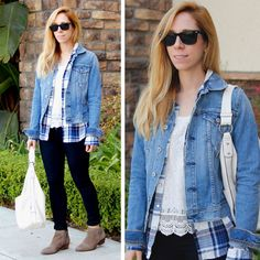 More click [.] Trendy Fall Outfit Women Flannel Inspiration Flannel Shirt Source Thekeytochiccom Stayglam 50 Cute Flannel Outfit Ideas For Fall 2014 Stayglam Cute Flannel Outfits, Cute Outfits With Leggings, Flannel Fashion, Flannel Shirt, Vest Outfits For Women, Trendy Fall Outfits, Fall Fashion Outfits, Winter Fashion, Women's Fashion