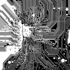 Computer circuit board made in vector — Vector by icetray