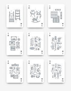 Hipsteria on Behance Uno Cards, Name Cards, Line Design, Book Design, Plastic Playing Cards, Board Game Design, Line Illustration, Deck Of Cards, Card Deck