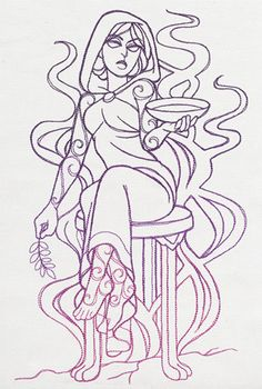 Divine Femme - Oracle design (UT10631) from UrbanThreads.com