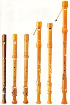 Soprano, alto, tenor and bass recorders