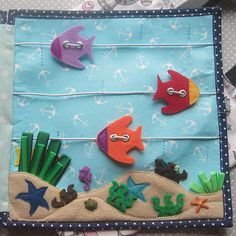 Quiet book fish page