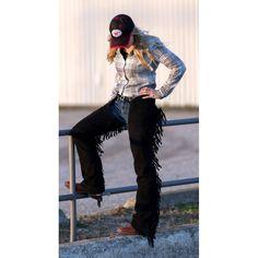 SHOW CHAPS WITH CONCHO #chaps #western www.westernrawhide.com Westerns, Punk, How To Wear, Style, Fashion, Swag, Moda, Stylus, Fashion Styles