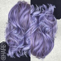 Pastel purple hair by @kristenmackoul