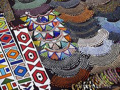 Beautiful traditional jewellery from South Africa. Probs made by the Zulu
