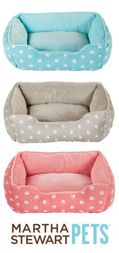 Blue, tan or pink? What's your favorite #MarthaStewartPets color? Only @petsmartcorp