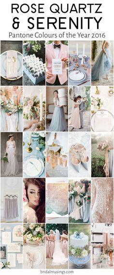 Rose Quartz & Serenity | Pantone Colours of the Year 2016 | Bridal Musings Wedding Blog