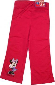 Pantalon trening oficial Disney cu Minnie Mouse, 50% bumbac, 50% poliester.
