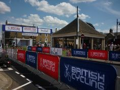 Circuit of the Fens cycle event July start/finish line in Whittlesey. Cycling Events, Finish Line, Grand Prix, Circuit, Broadway Shows, British, It Is Finished, Football Pitch