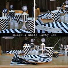 Black & White Party Box Black White Parties, Black And White, Party In A Box, Products, Blanco Y Negro, Black White, Black N White, Beauty Products