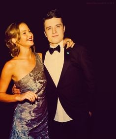 Jennifer Lawrence and Josh Hutcherson  #The Hunger Games
