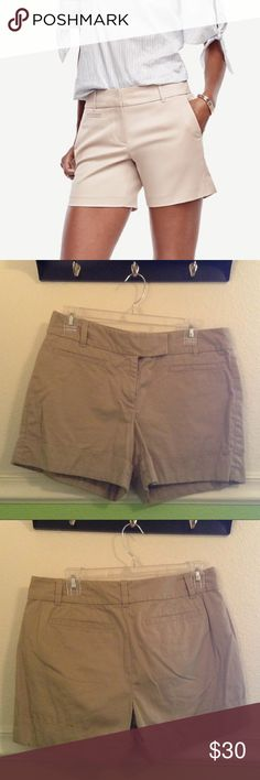 Ann Taylor's Signature Style Shorts A cute pair of Ann Taylor's signature style shorts in a nice tan/ sandy brown color. Worn twice. In great condition!!! Ann Taylor Shorts