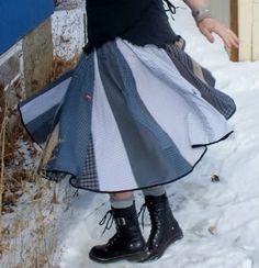TUtorial for circle skirt of men's shirts