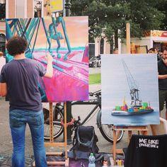 "@mylifeatrotterdam's photo: ""Me Like Painting at The World Port Days Rotterdam.  #rdam #rotterdam #roffa #wereldhavendagen #melikepainting #painting"""