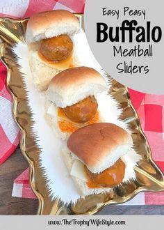 Easy Peasy Buffalo Meatball Sliders #ad