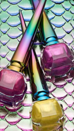 Christian Louboutin OFF!>> These Christian Louboutin Nail Polishes Prove The Unicorn Trend Is Far From Over Chrome Nail Polish, Chrome Nails, Christian Louboutin Nail Polish, American Nails, Nicole By Opi, Christmas Manicure, Unicorn Nails, Color Club, Halloween Nail Art