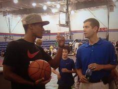 8c1fb25f7 Rajon Rondo and new coach Brad Stevens meet