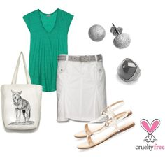 Gray + Green, created by pbmhuck on Polyvore