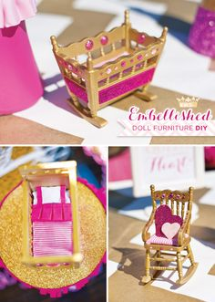 DIY Tutorial: Embellished Doll Furniture