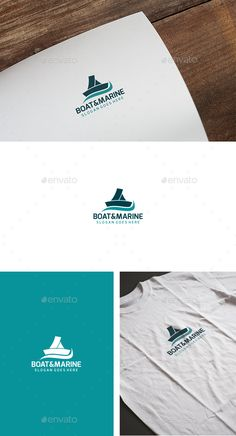Boat and Marine  - Logo Design Template Vector #logotype Download it here: graphicriver.net/...