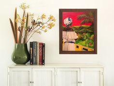 Puerto Rico Art Print Acrylic Painting Wall Decor Caribbean Island Colorful Cultural Gift Idea