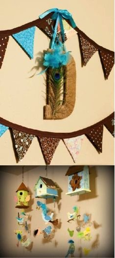 Nurture with nature in this baby bird themed nursery décor.