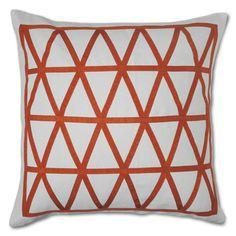 Jonathon Adler positano helix pillow - orange and white