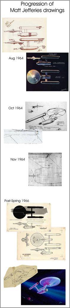 Matt Jeffries original U.S.S. Enterprise sketches